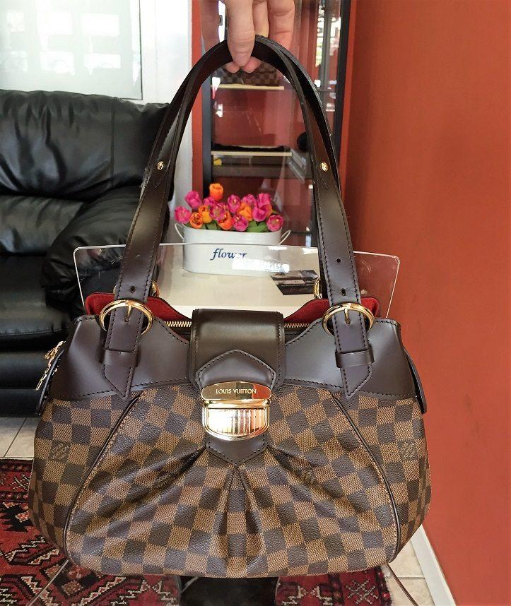4de9b96ee814b New Louis Vuitton Sistina PM Bag in LV Damier Ebene Canvas – LUSSO DOC
