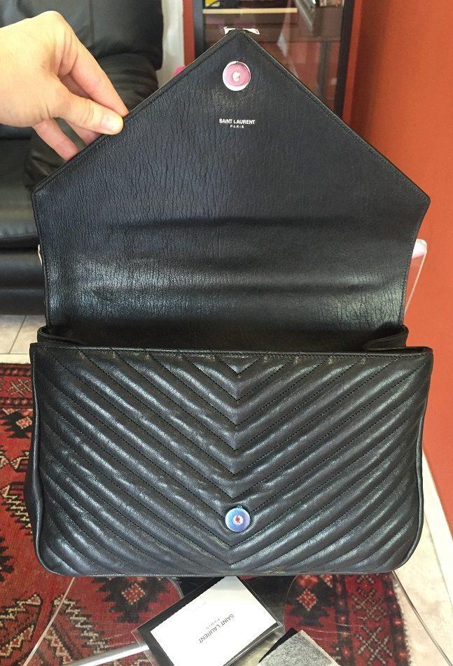 New Yves Saint Laurent Classic Large YSL Monogram bag made in black ... ce9255b01ff67