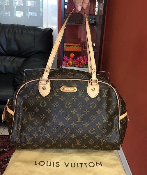 fc9ef4840a Pre-owned Louis Vuitton Montergueil GM bag in LV monogram canvas ...