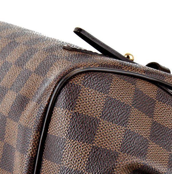 29e991606cf7 Pre-owned Louis Vuitton Rivington GM in LV Damier Ebene Canvas ...