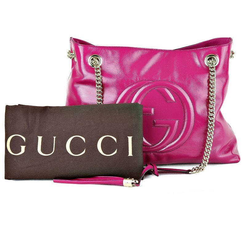 923683e4cb New Gucci SOHO shoulder bag, purple vernis – LUSSO DOC