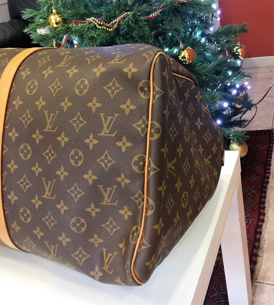 Borsa louis vuitton keepall 55 lv monogram in buone for Borse usate firmate
