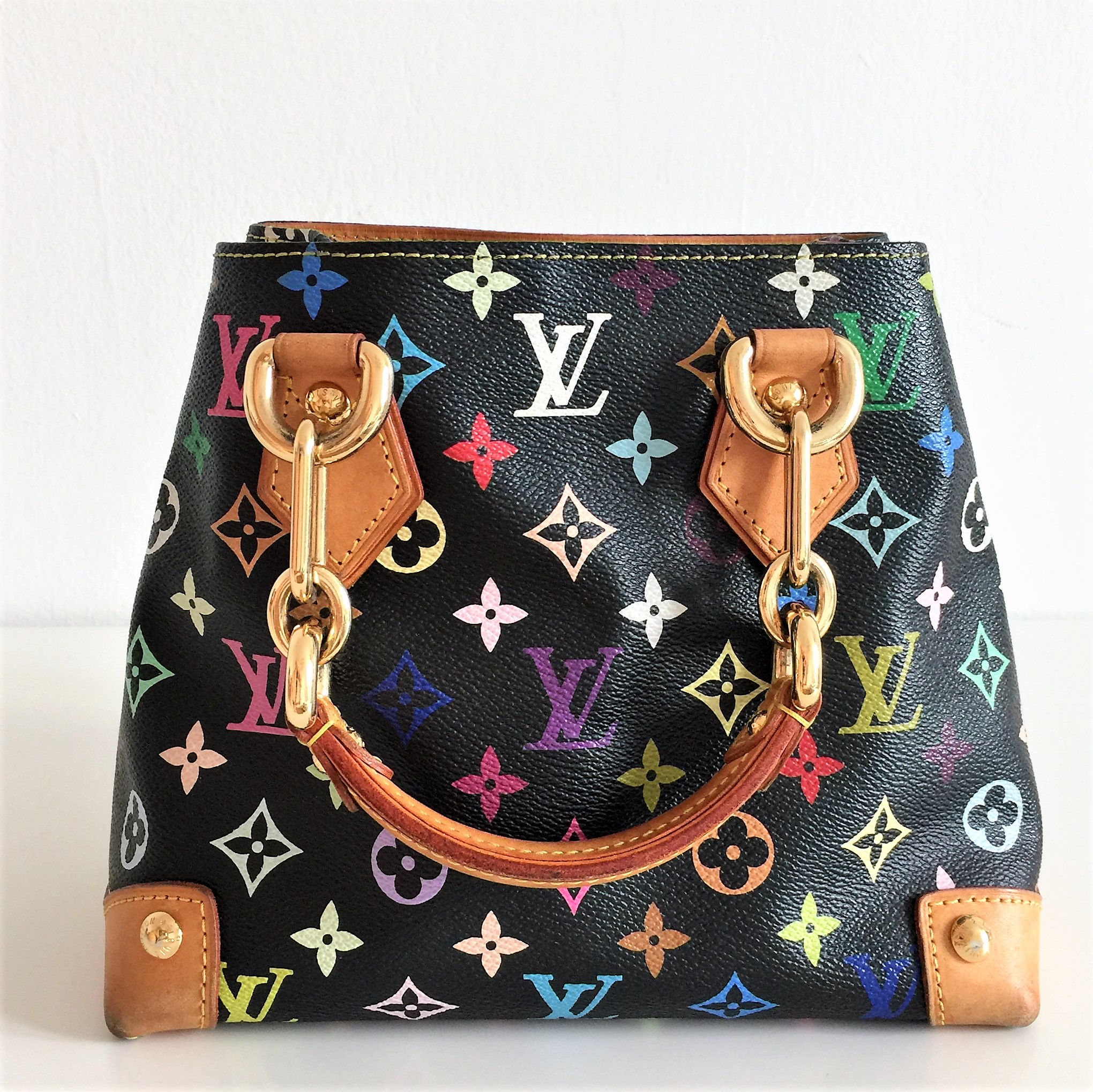 Borsa louis vuitton audra multicolore mai usata come for Borse usate firmate