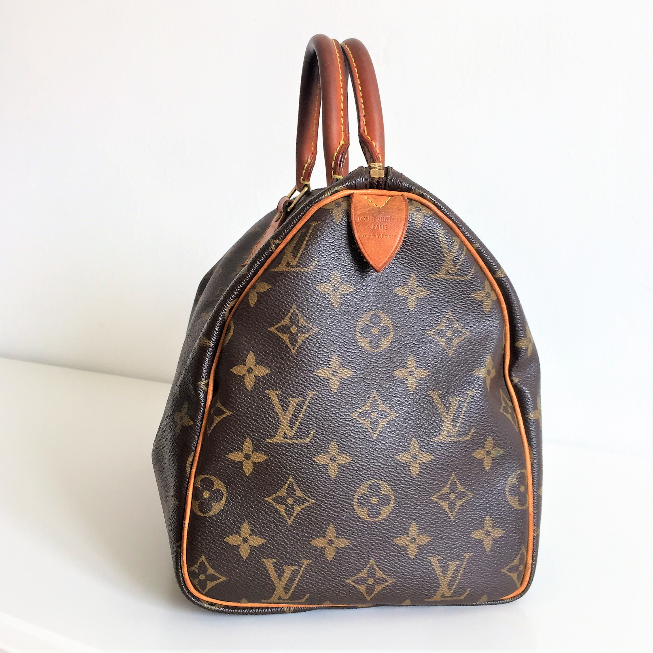 louis vuitton monogram speedy 30 pre owned lv bag in very